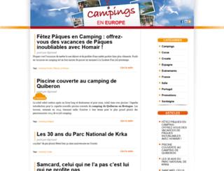 campings-en-europe.com screenshot