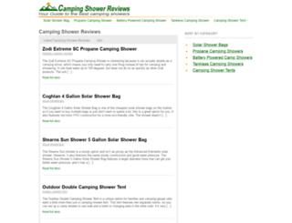 campingshowerreviews.com screenshot