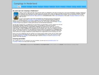 campingsinnederland.com screenshot
