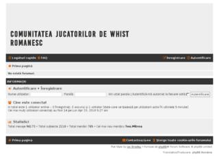 campionatuldewhist.eu screenshot