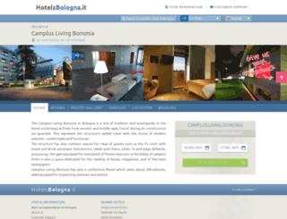 campluslivingbononia.hotelsbologna.it screenshot