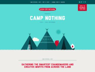 campnothing.goodfornothing.com screenshot