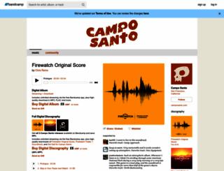camposantogames.bandcamp.com screenshot