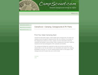 campscout.com screenshot