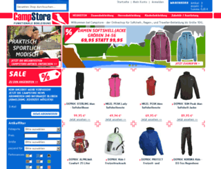 campstore.de screenshot