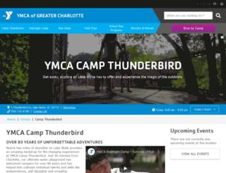 campthunderbird.org screenshot