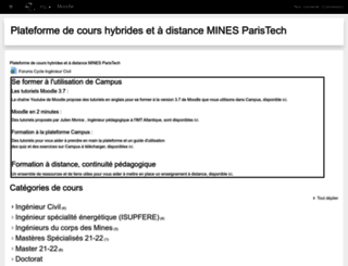 campus.mines-paristech.fr screenshot