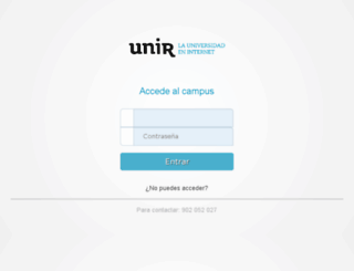 campus.unir.net screenshot