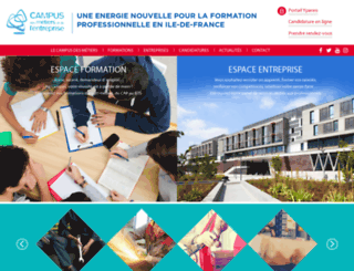 campus93.fr screenshot
