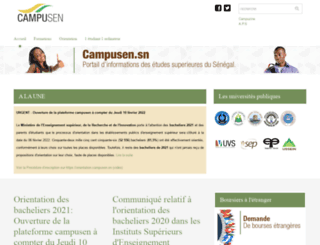 campusen.sn screenshot