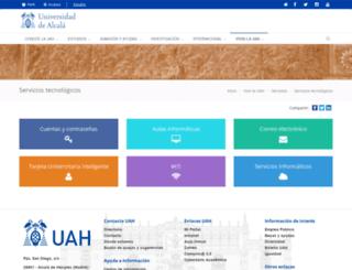 campusenred.uah.es screenshot