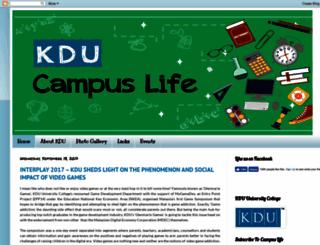 campuslife.kdu.edu.my screenshot