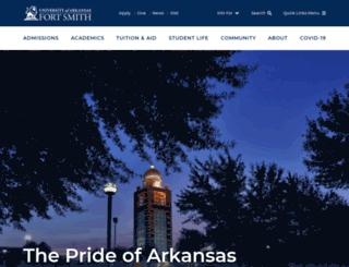 campuslife.uafs.edu screenshot
