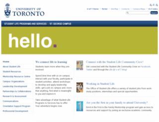 campuslife.utoronto.ca screenshot