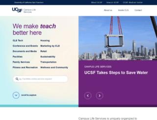 campuslifeservices.ucsf.edu screenshot