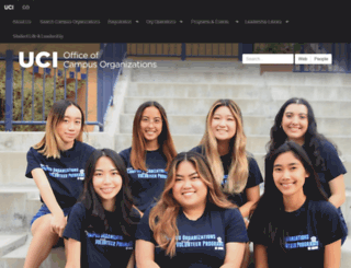 campusorgs.uci.edu screenshot
