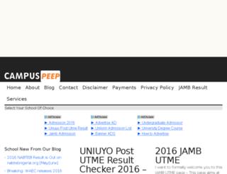 campuspeep.com.ng screenshot