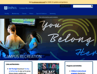 campusrec.depaul.edu screenshot