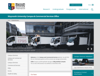 campusservices.nuim.ie screenshot