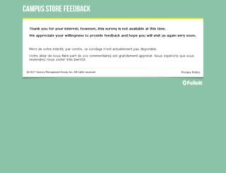 campusstorefeedback.com screenshot