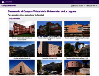 campusvirtual.ull.es screenshot