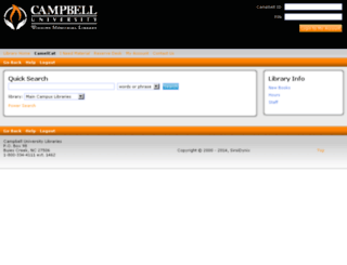 camu.sirsi.net screenshot