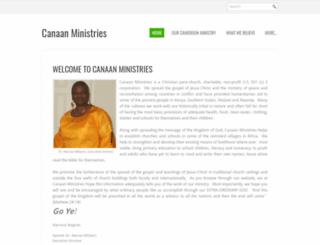 canaanministries.org screenshot