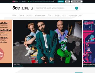 canaansmith.seetickets.com screenshot