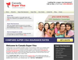 canada-super-visa.ca screenshot