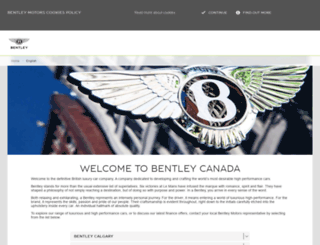 canada.bentleymotors.com screenshot