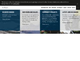 canada.debeersgroup.com screenshot