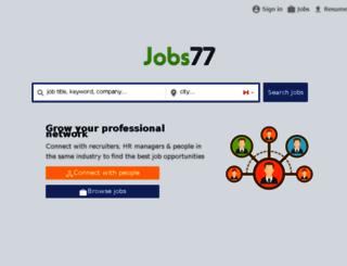 canada.jobs77.com screenshot