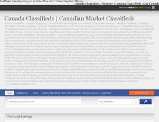 canadaclassifieds1.com screenshot