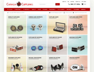 canadacufflinks.ca screenshot