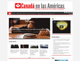 canadaenlasamericas.com screenshot