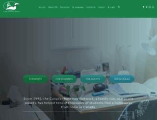 canadahomestaynetwork.ca screenshot