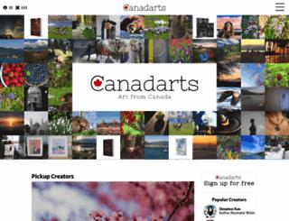 canadarts.ca screenshot