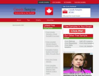 canadasamples.com screenshot
