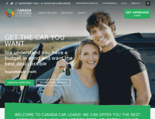 canadascarloans.com screenshot