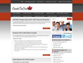 canadataxcredit.ca screenshot