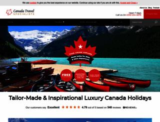 canadatravelspecialists.com screenshot