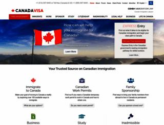 canadavisa.com screenshot