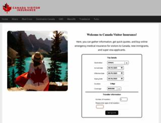 canadavisitorinsurance.com screenshot