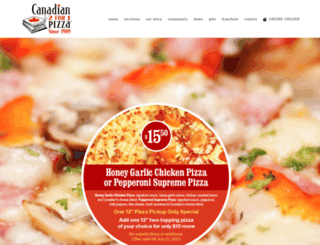 canadian2for1pizza.com screenshot