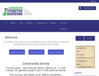 canadianfirearmsinstitute.ca screenshot