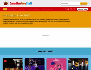 canadianfreestuff.com screenshot