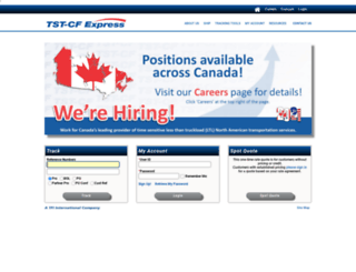 canadianfreightways.com screenshot