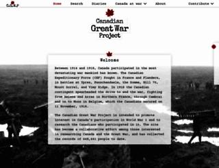 canadiangreatwarproject.com screenshot