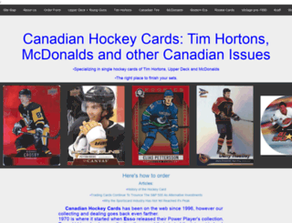 canadianhockeycards.com screenshot