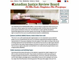 canadianjusticereviewboard.ca screenshot
